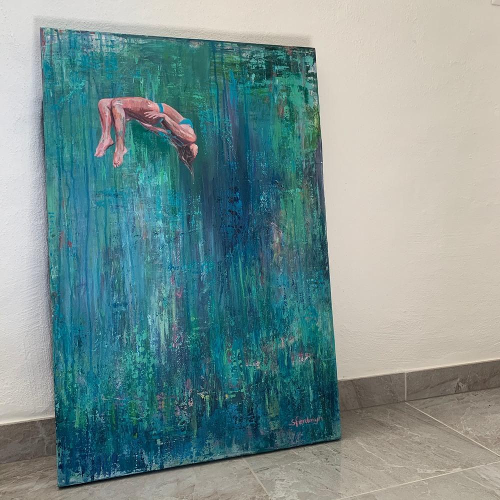 Free Fall II in art studio