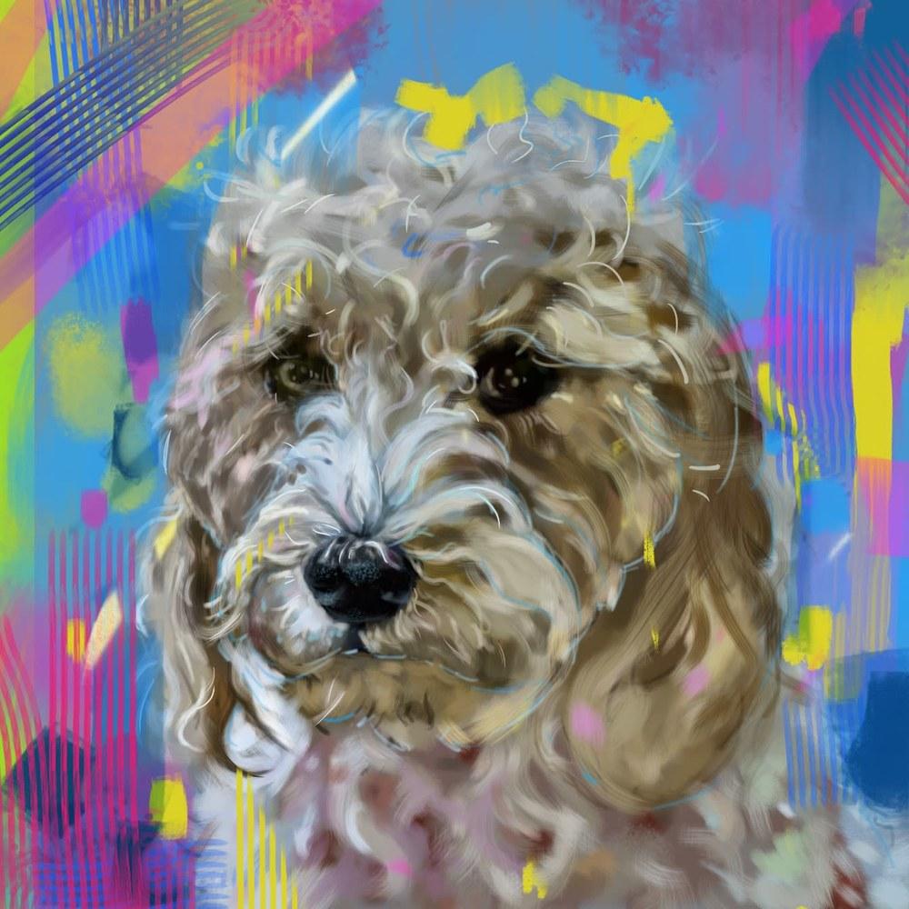 4 10 20 digital drawing commission christi wells russo dog portrait 2 final jpeg version