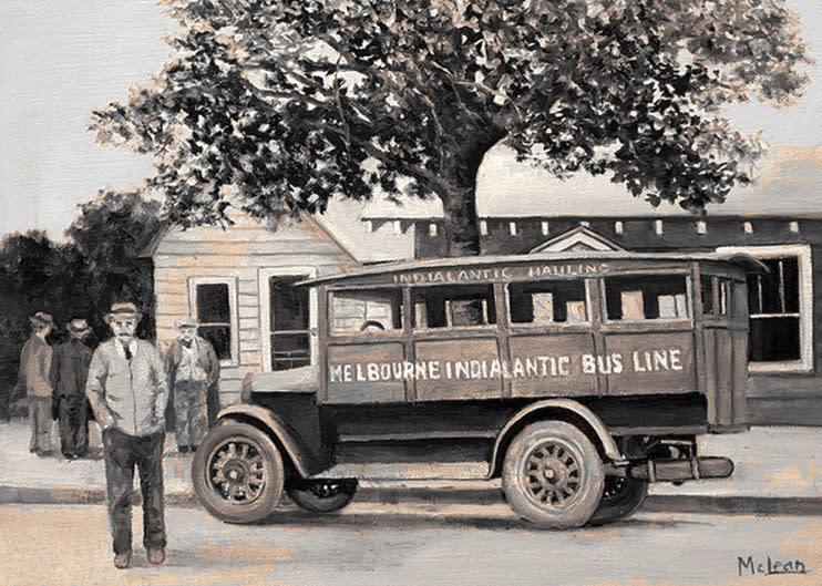 Melbourne Indialantic bus line sepia