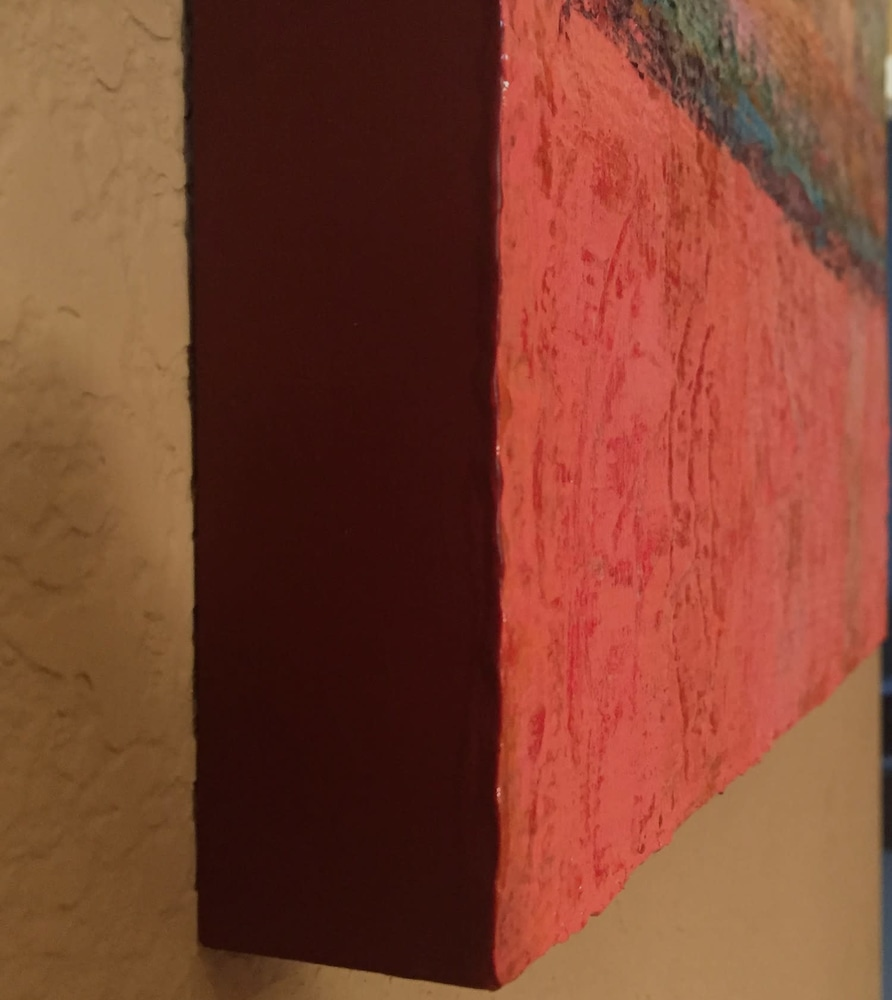 Side View Of Panel: Rustic World By Tracy Lynn Pristas