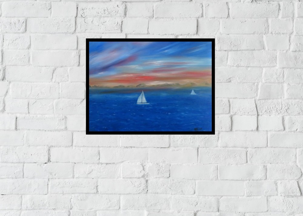 sailing the coast InPixio web framed backdrop