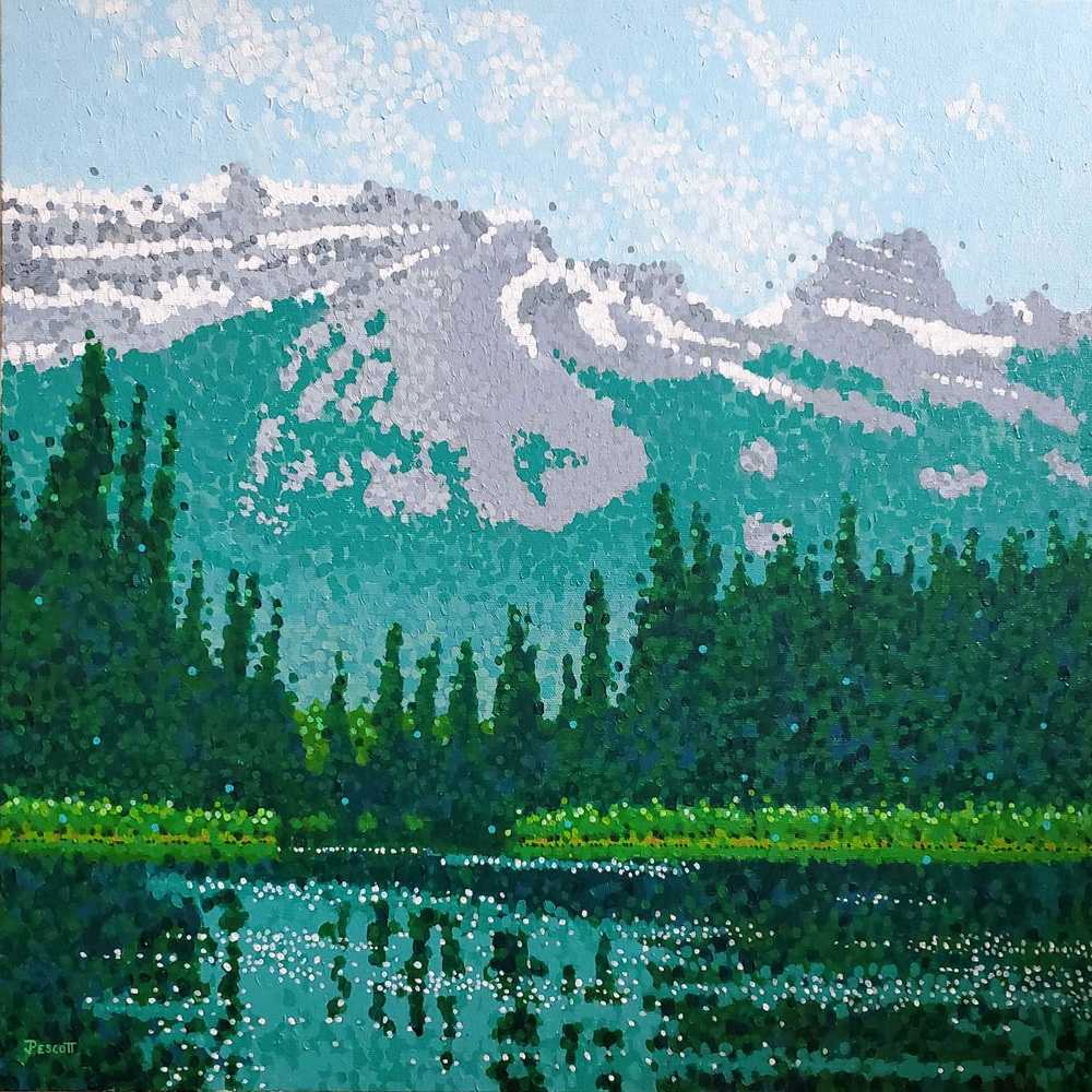 Pescott Bow River Banff 20x20
