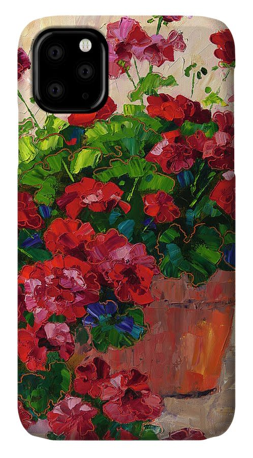 Cell Phone case red geraniums