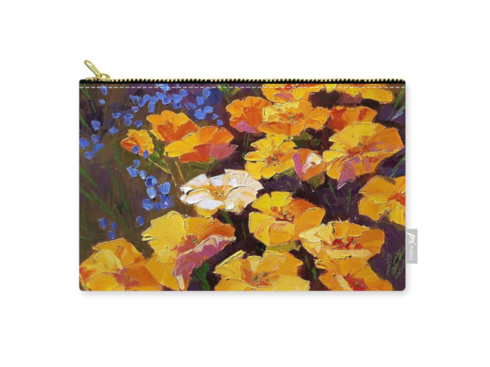 zipper pouch poppies