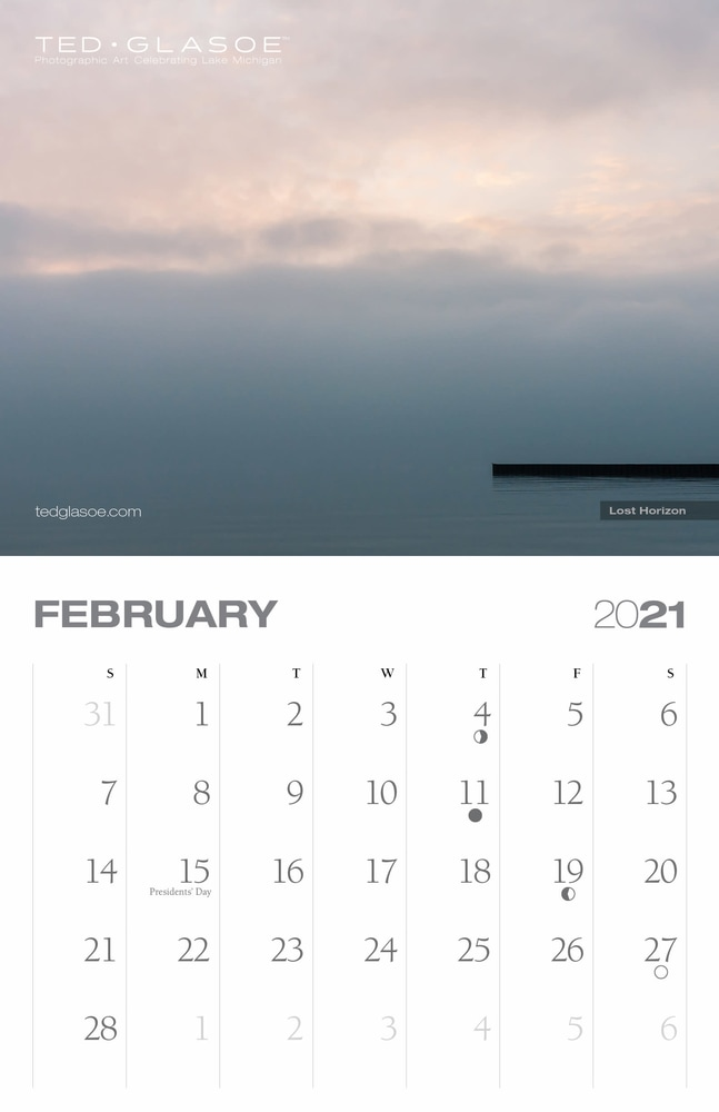 2021 Ted Glasoe Calendar - February