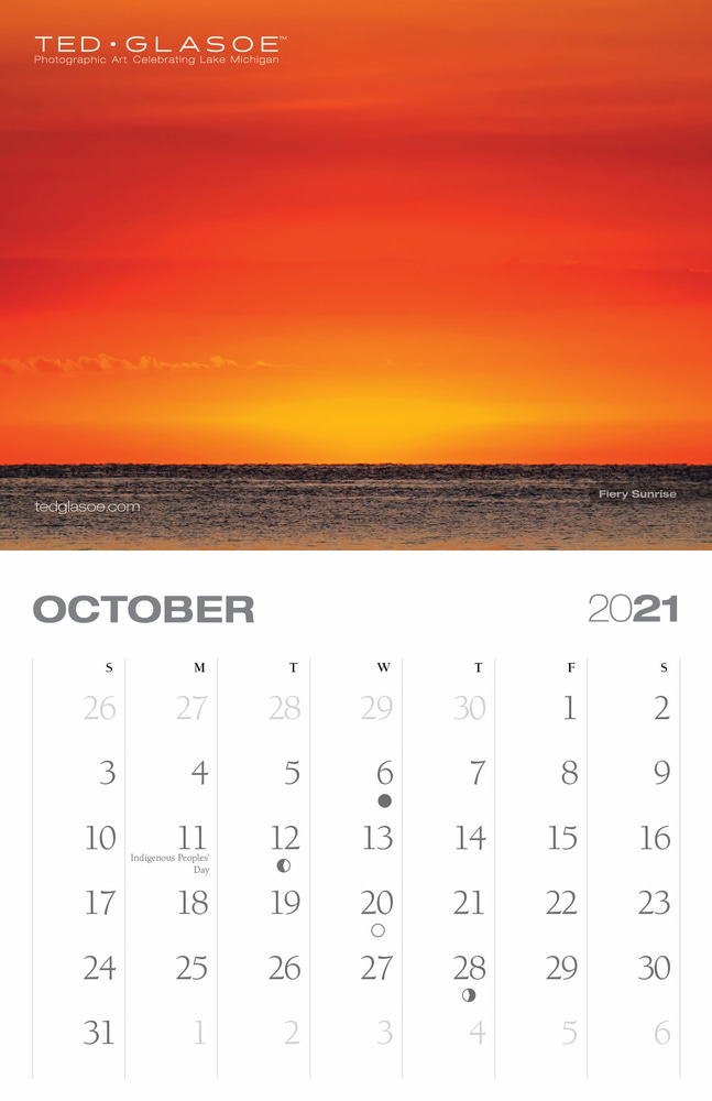 2021 Ted Glasoe Calendar - October
