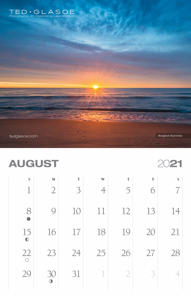2021 Ted Glasoe Calendar - August