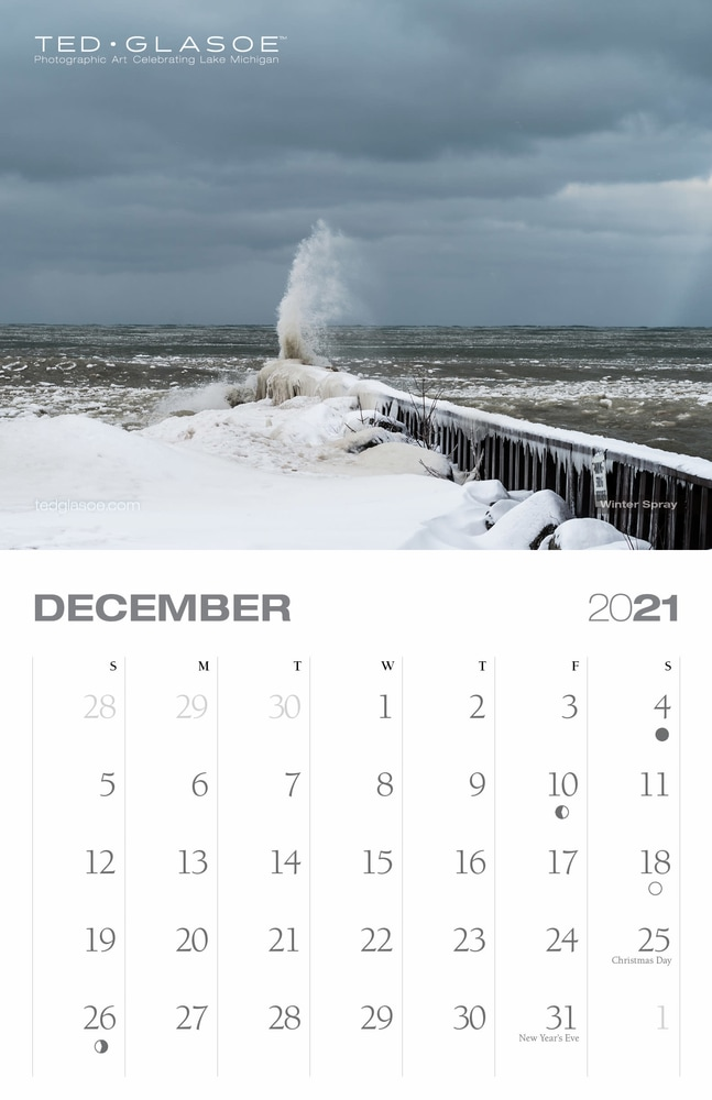 2021 Ted Glasoe Calendar - December