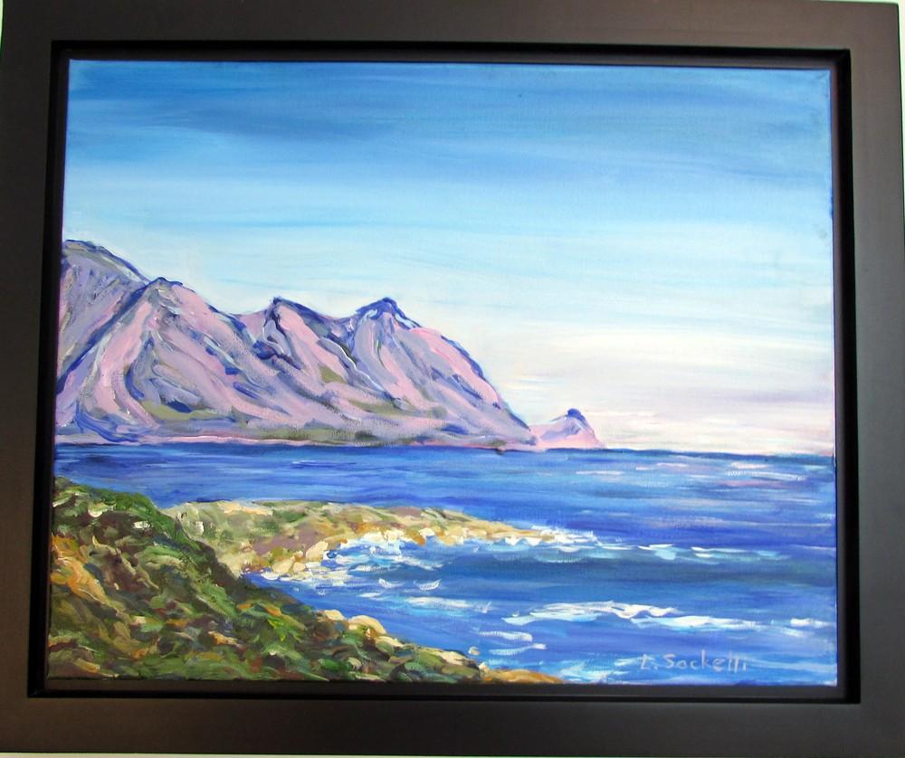 Evening near the Cape Gordons Bay framed