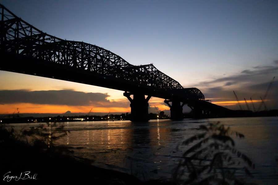 New Orleans Bridges Calendar July 2021