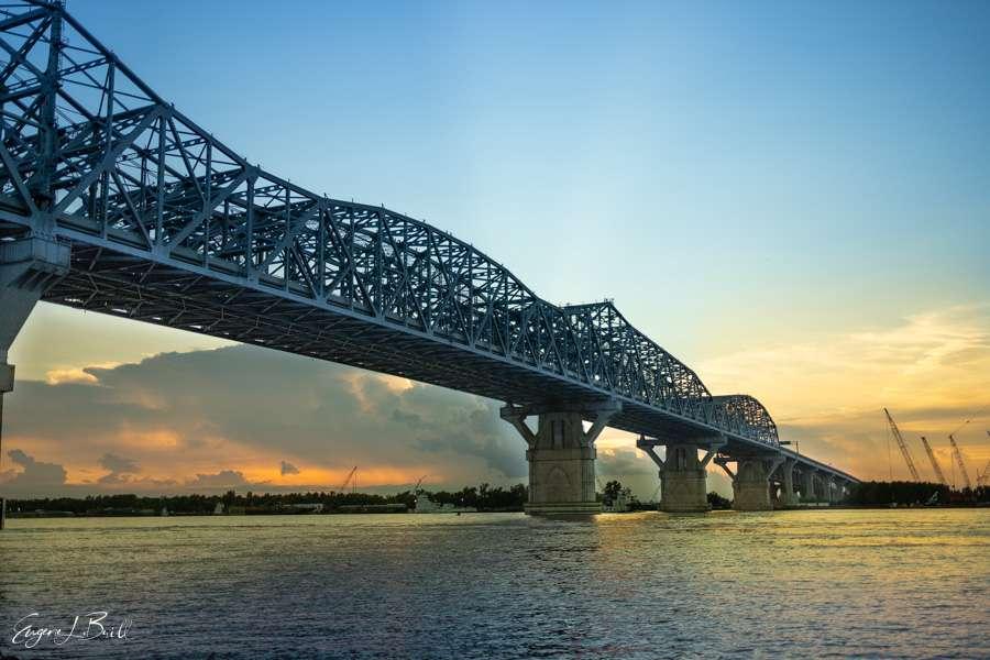 New Orleans Bridges Calendar February 2021