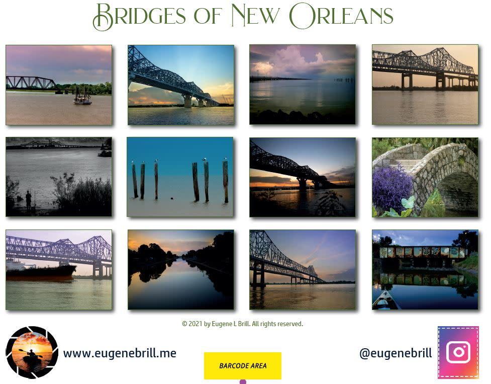 New Orleans Bridges Calendar Backpage 2021