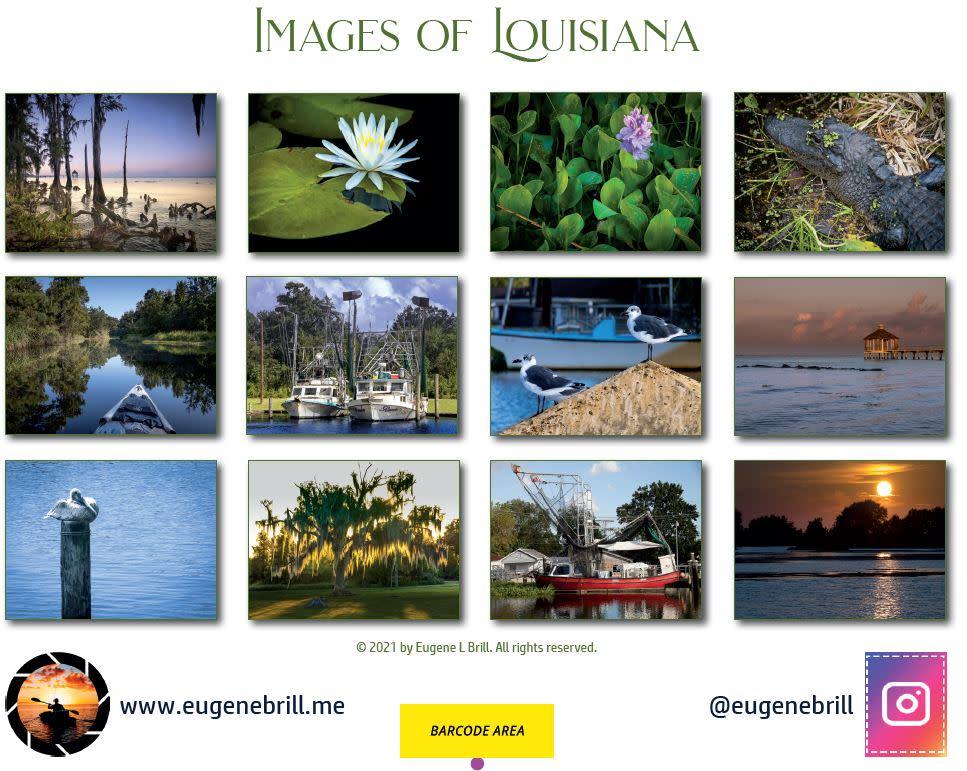 Images of Louisiana Calendar Backpage 2021