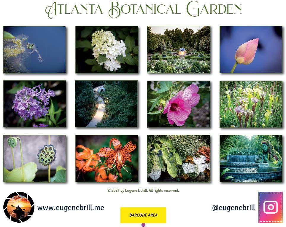 The Atlanta Botanical Garden Calendar Backpage 2021