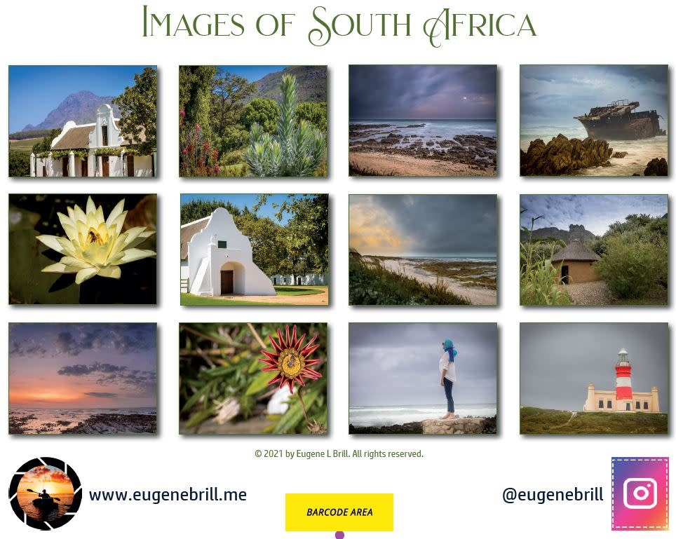 Images of South Africa Calendar Backpage 2021