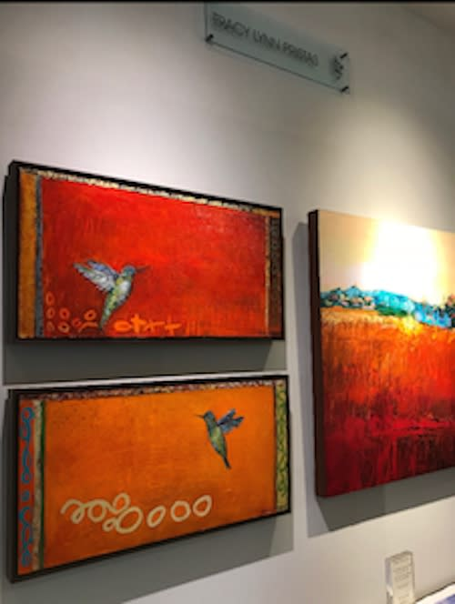 Tracy Lynn Pristas Hummingbird Paintings In Gallery