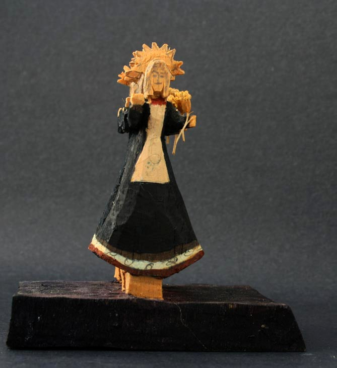 lovato taos art company woodcarving saint santo our lady of sorrow nuestra senora de dolores miniature