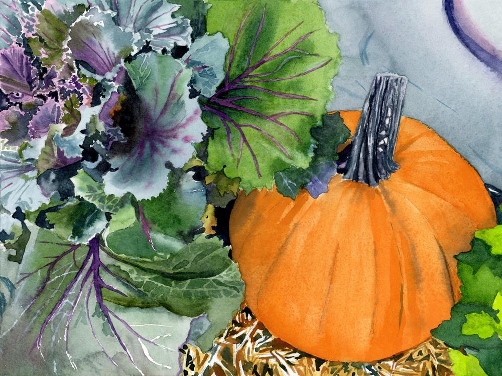 Pumpkin and Kale ASF PRINT