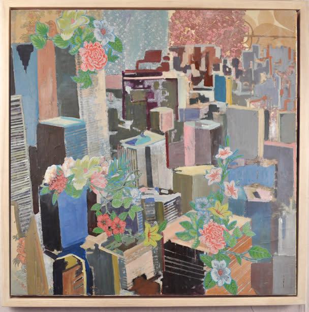 City Alive framed, 36x36