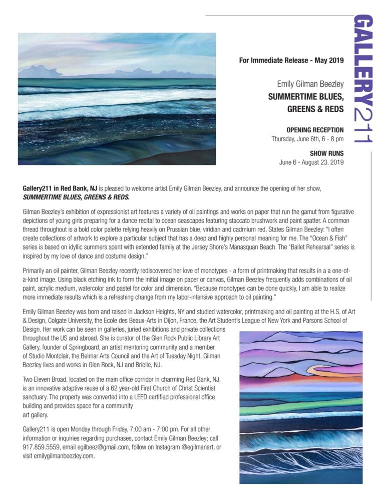 Gallery211 Press Release