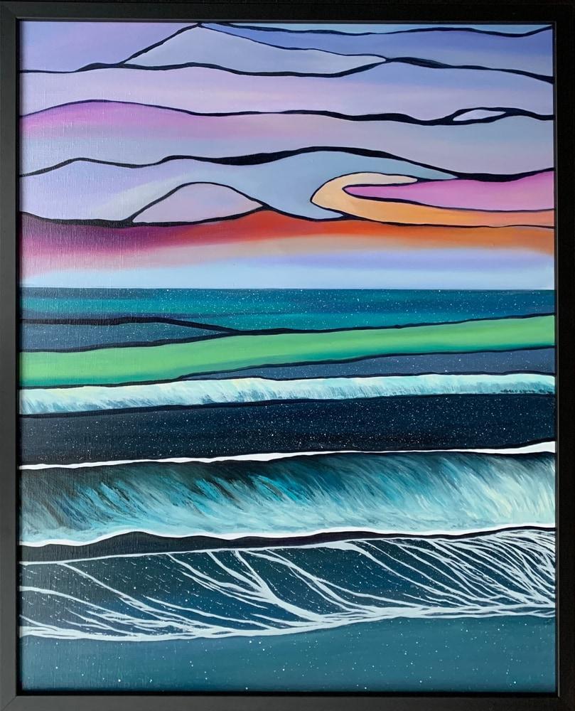 Ocean Strata - Framed
