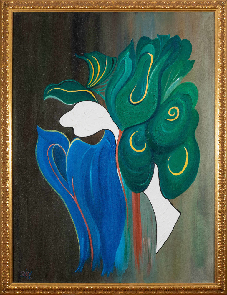 BOUQUET OF THE MIND 42X34 ACRYLIC ON CANVAS $5,900
