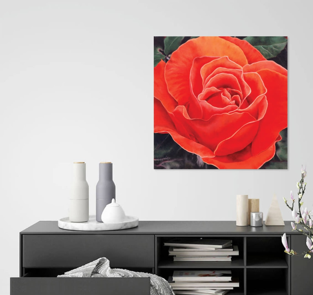 CoralRose above buffet type table