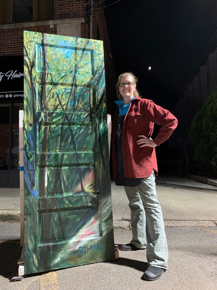 The Green Door Festival Painting