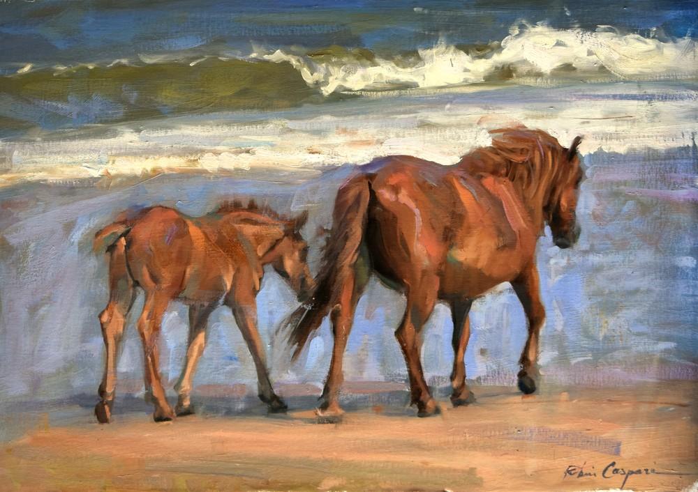 Corolla Mare and Foal, 24x17, Oil, 2020