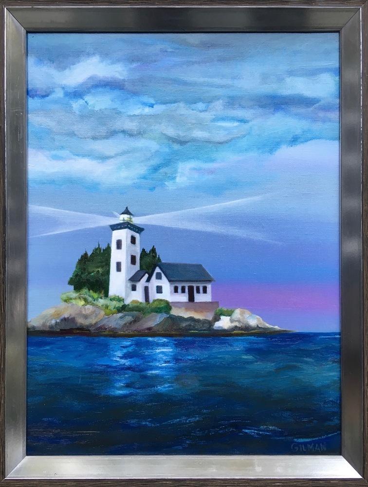 Maine Lighthouse   framed