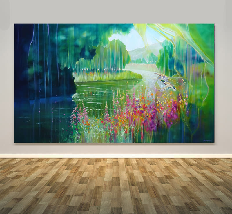 spellbound river=wall art S