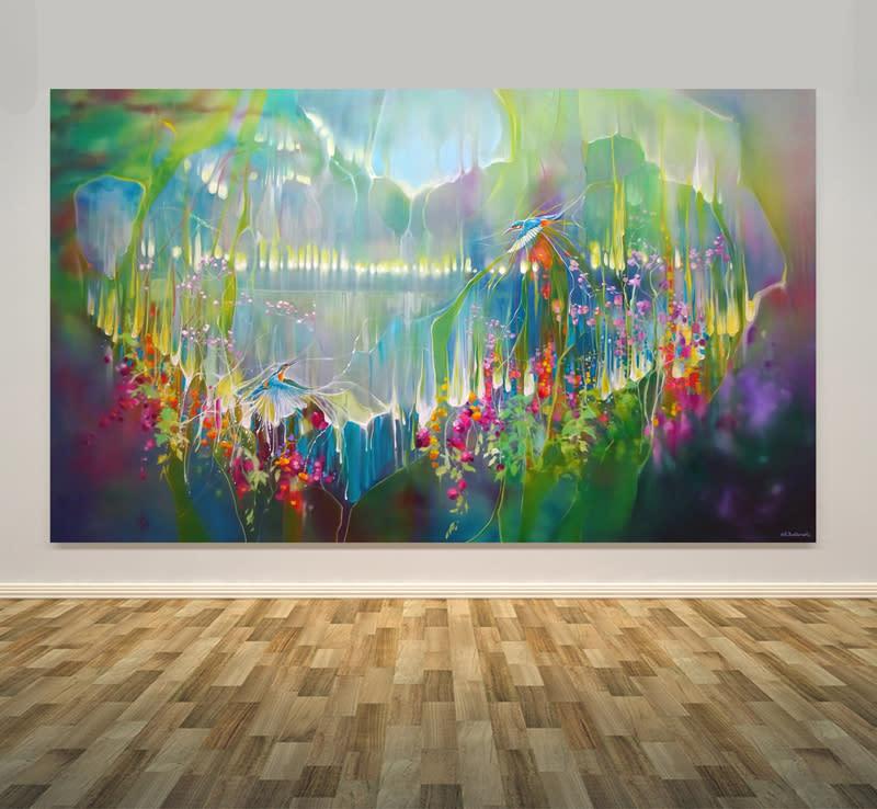 Kingfisher Romance wall art print S
