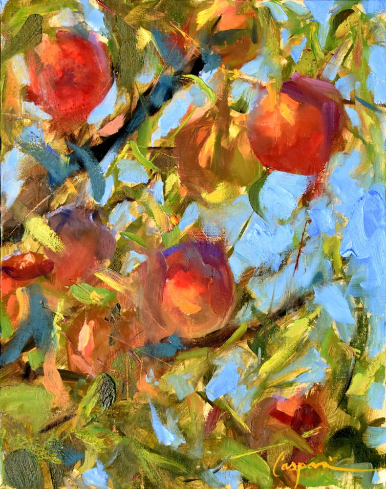 Peach Paradise, 11x14, Oil, 2020