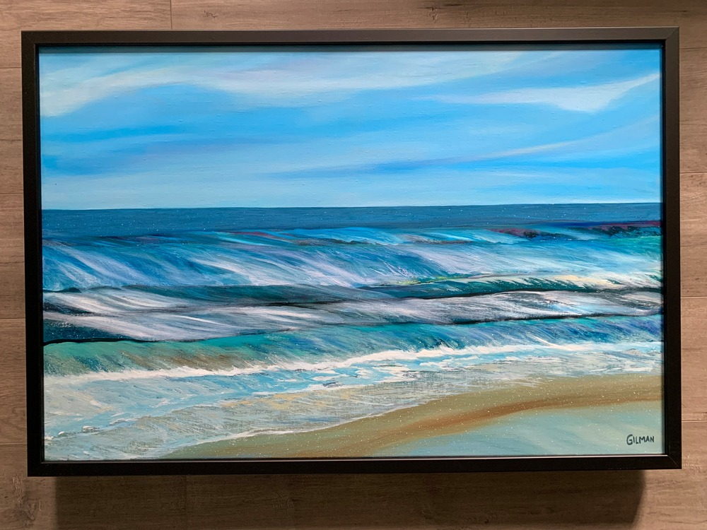 The Ocean Speaks   Framed hanging