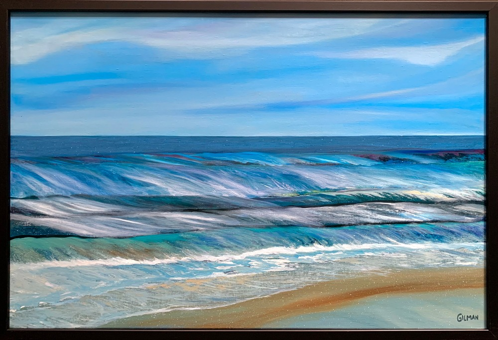 The Ocean Speaks Framed