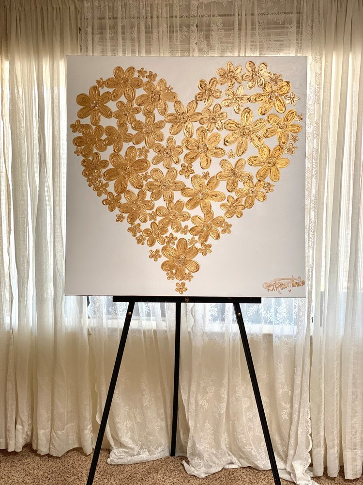 Heart of Gold on Easel