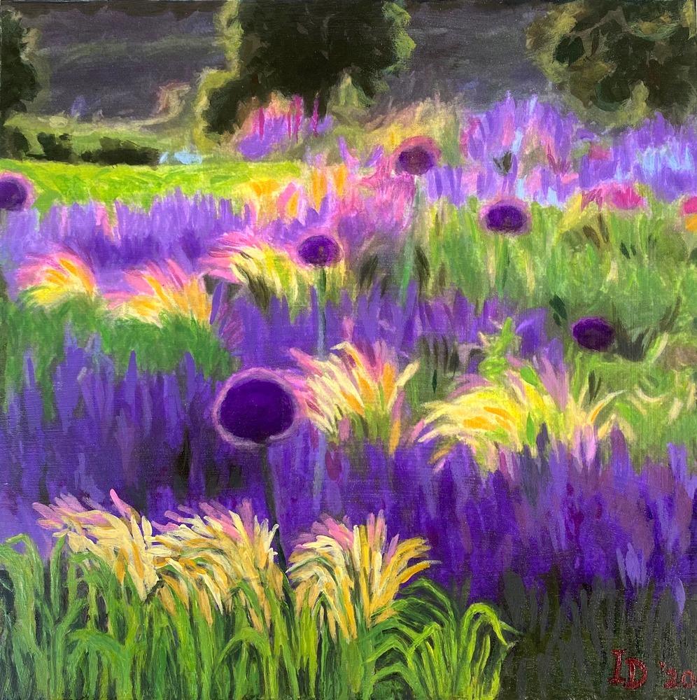 Inna Dzhanibekova 11 Lavender and Allium Field 01