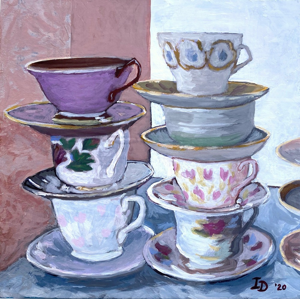 Inna Dzhanibekova 06 Still Life with Teacups  2