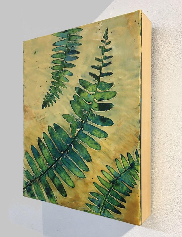 BridgetBenton ferns8x10 encausticnatureprint $325 sideview