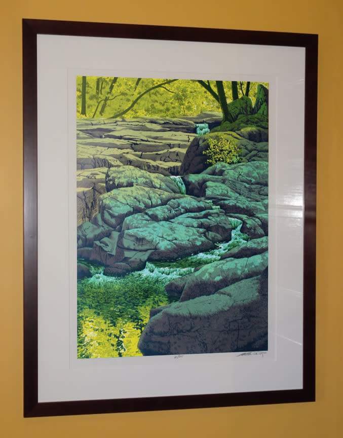Granite Cascade Framed
