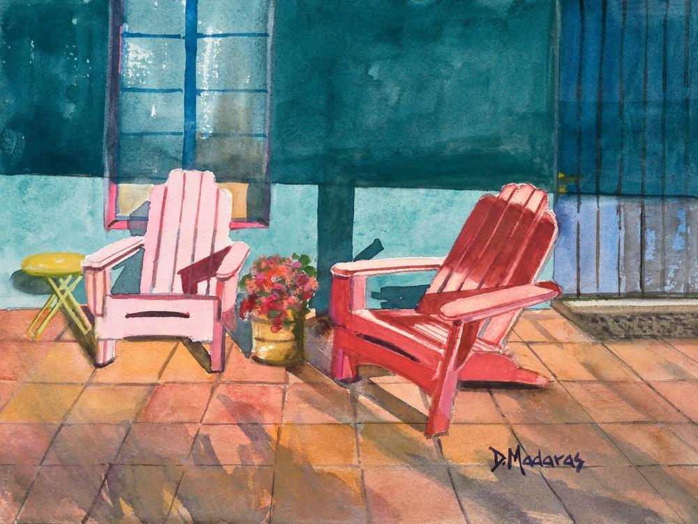 OUTSIDE ROOM #12  by Diana Madaras 9 x12 copy