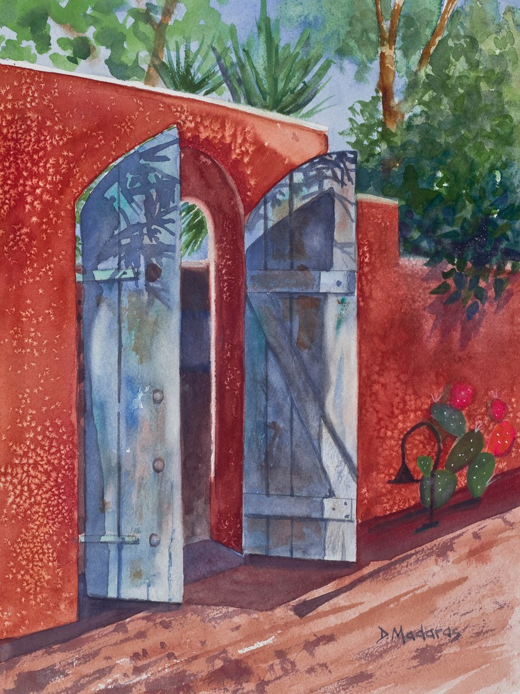 GATE AT OSA by Diana Madaras  12 x 9