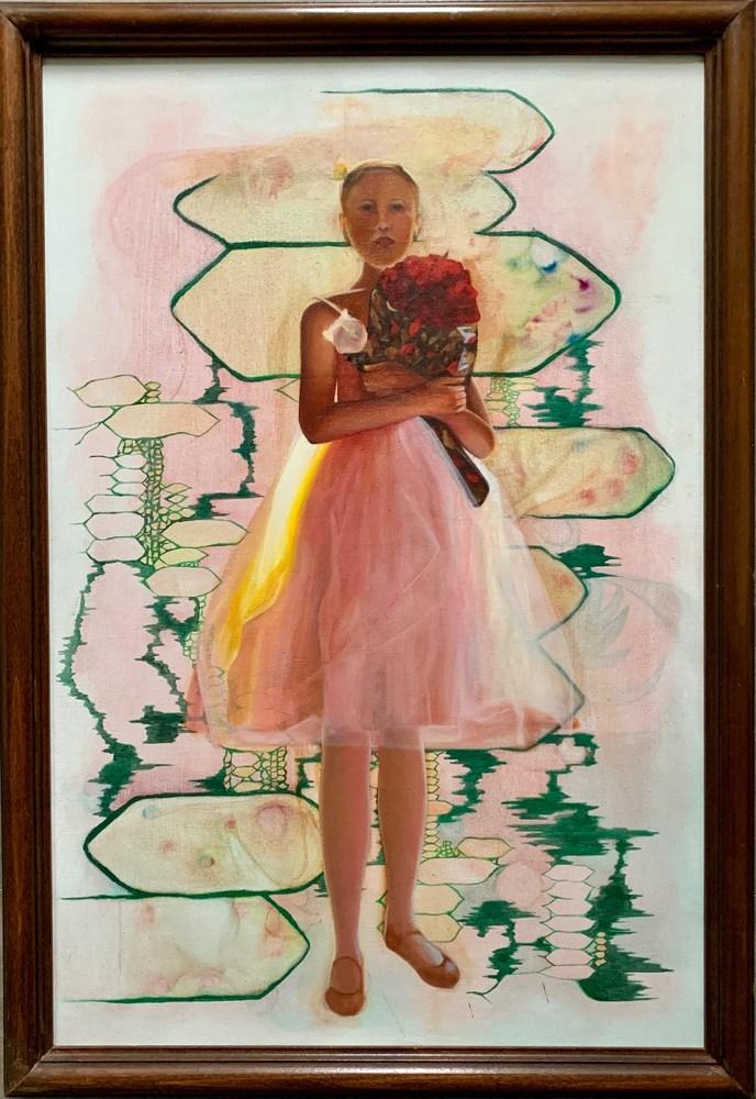 Rose White Luster   framed