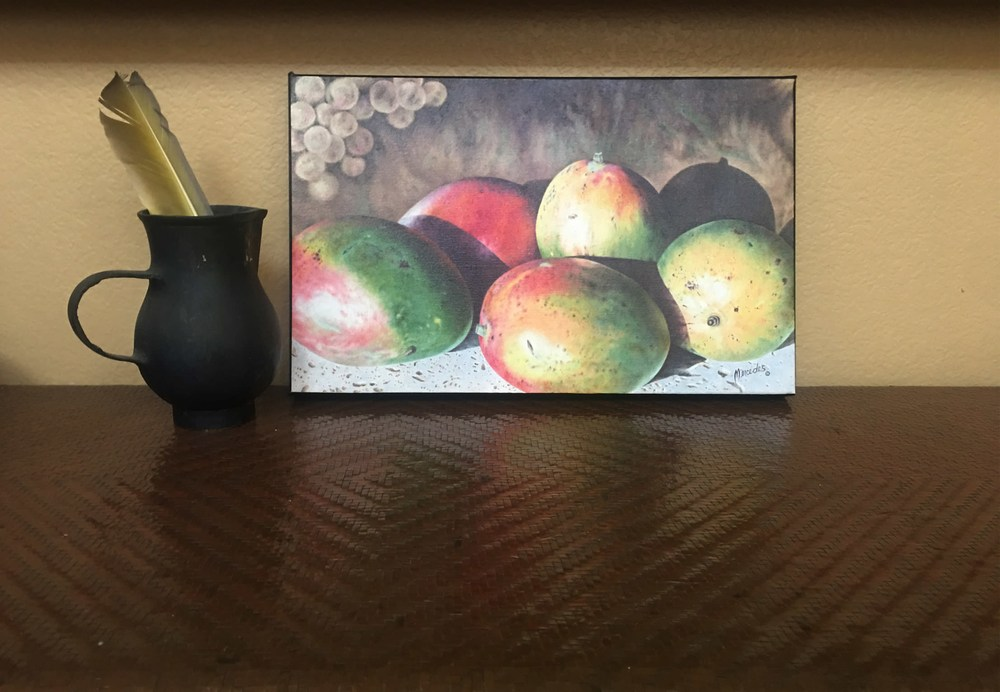Mangos  on copper table top
