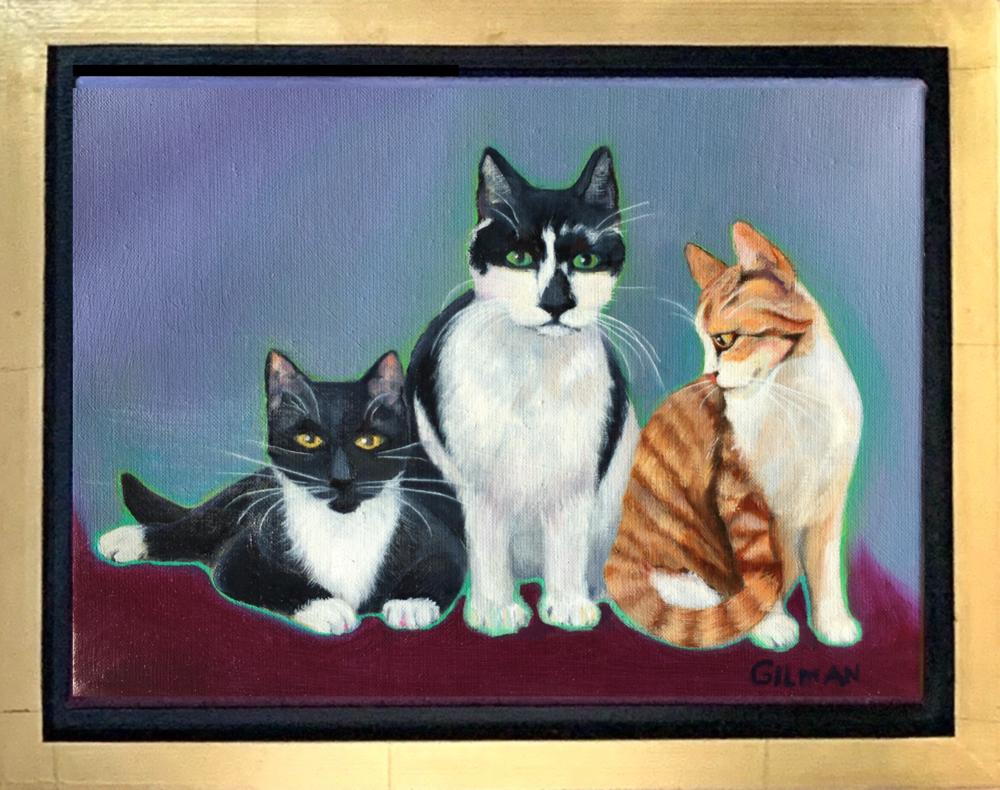 Kate's Kitties   framed