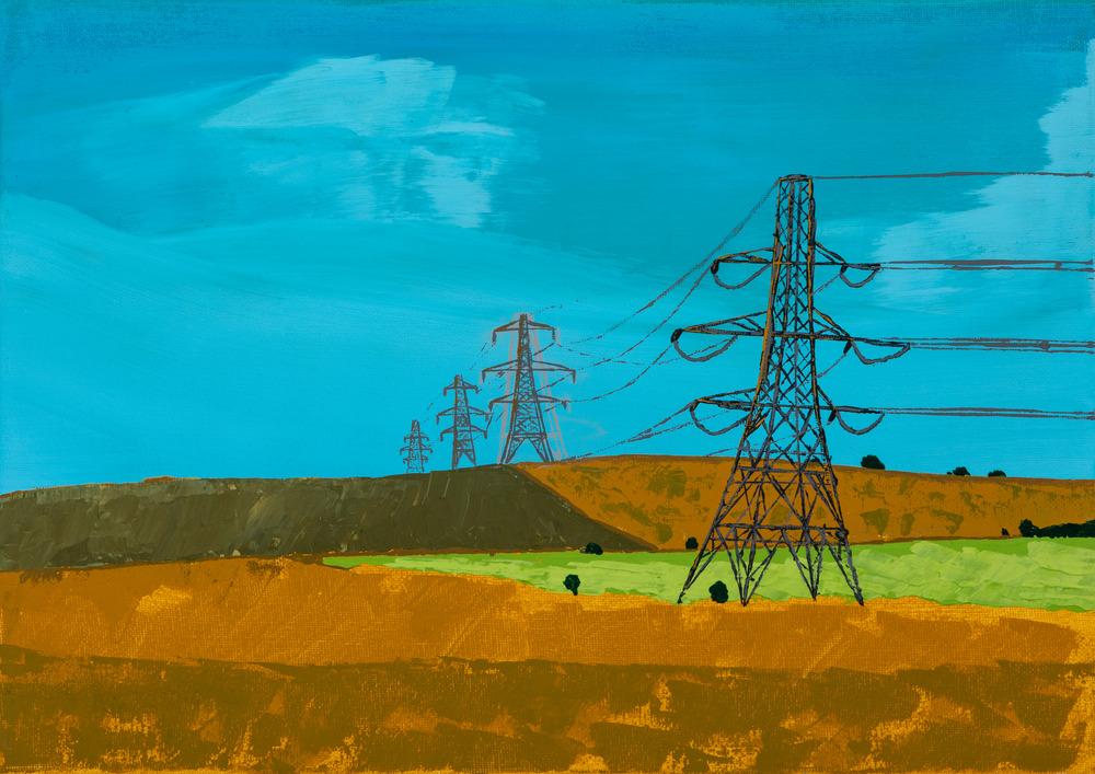 retreating pylons