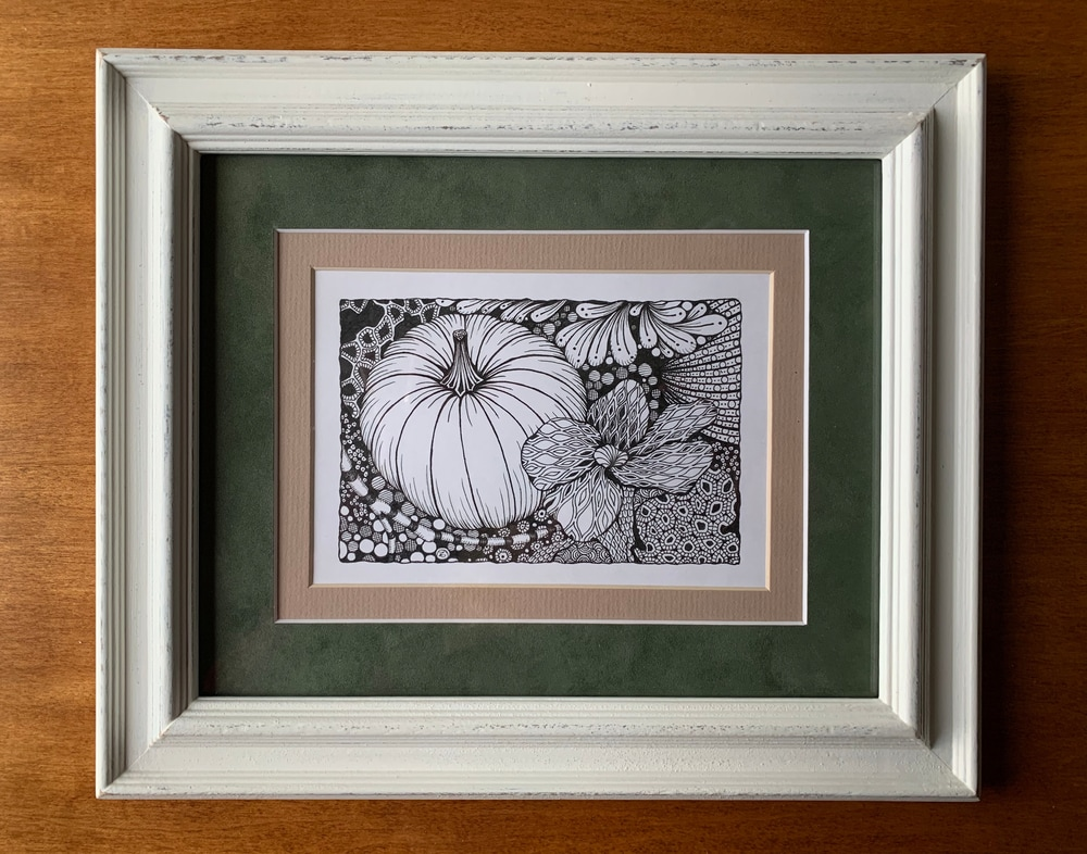 Pumpkin Patch  framed original