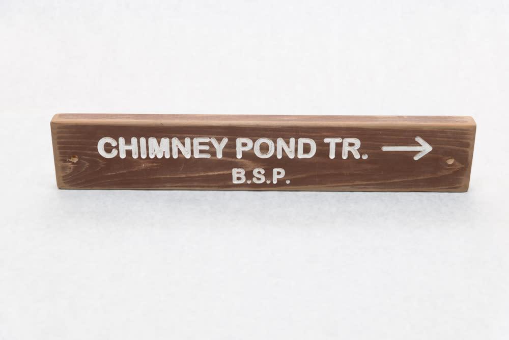 Chimney Pond Baxter State Park Trail Sign