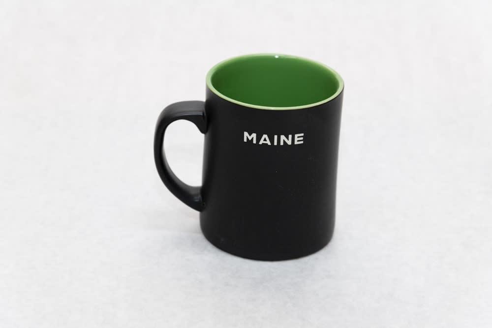 Black and Green Maine Moose Mug   Back