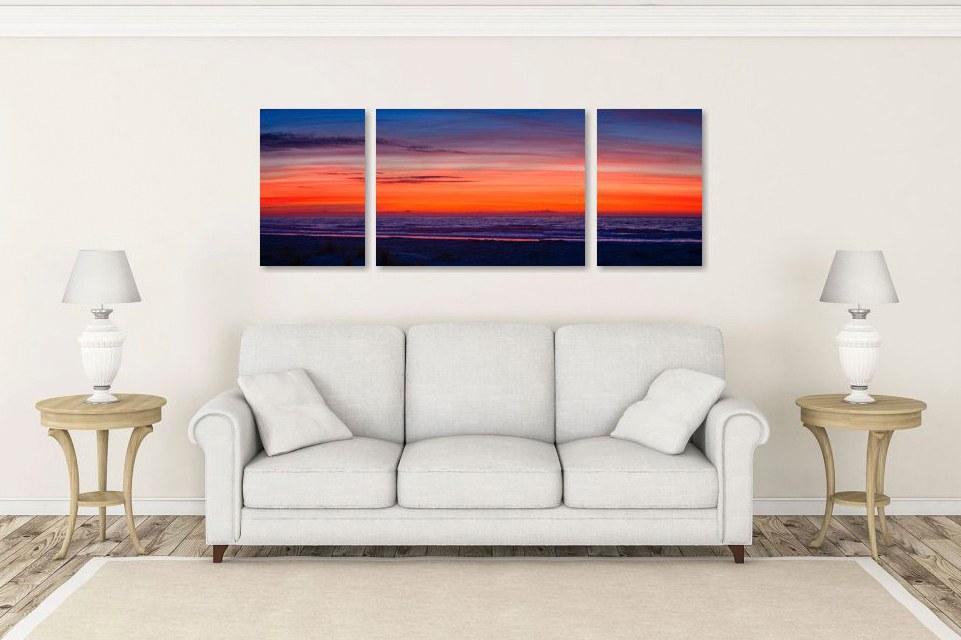 Atlantic Ocean Pre-dawn Sunrise in Living Room Setting